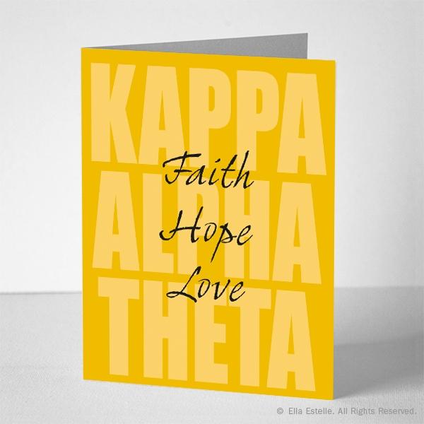 Kappa Alpha Theta Notecards - Quote