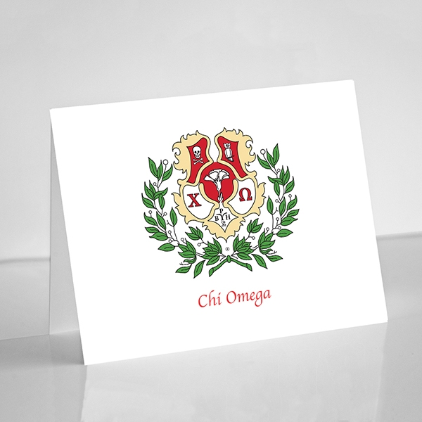 Chi Omega Crest Note Cards
